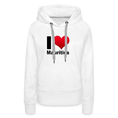 ilovemauritius - Sweat-shirt à capuche Premium pour femmes