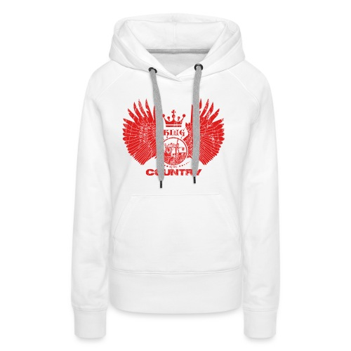 IH KING of the COUNTRY (Red design) - Vrouwen Premium hoodie