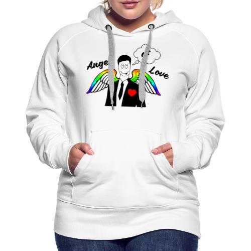 Angel of Love Regenbogen - Frauen Premium Hoodie
