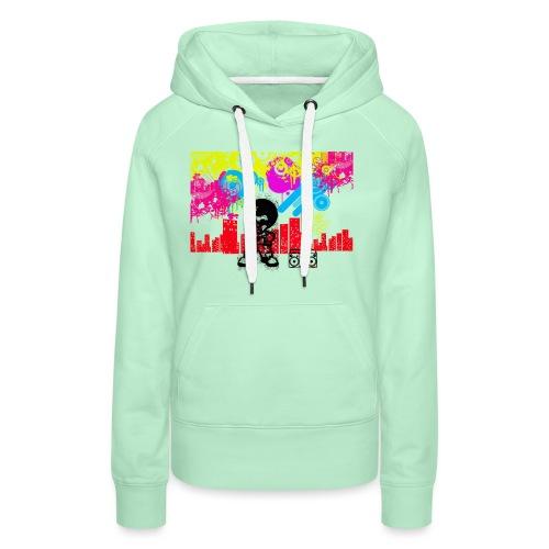 Magliette personalizzate bambini Dancefloor - Felpa con cappuccio premium da donna