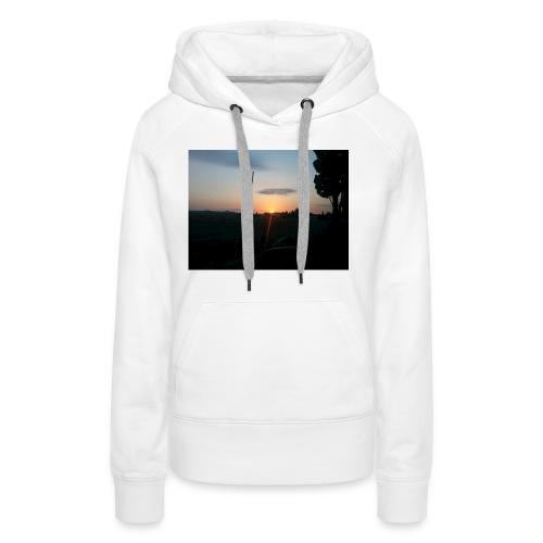 sol de noche - Sudadera con capucha premium para mujer
