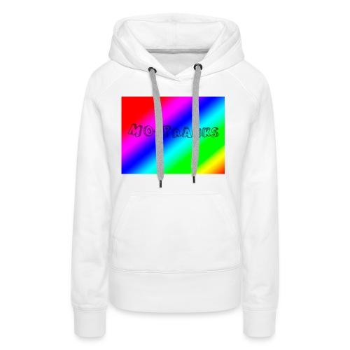 MO-Pranks rainbow - Premium hettegenser for kvinner