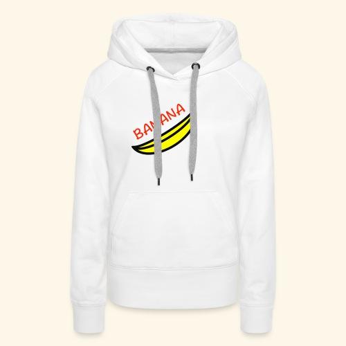 banana - Felpa con cappuccio premium da donna