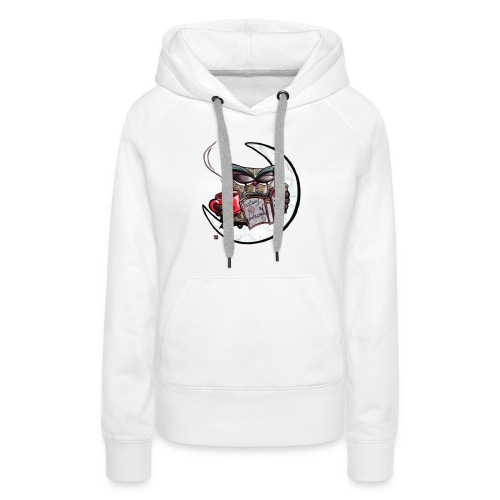 Owl With Coffee - Women's Premium Hoodie