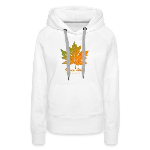 Space Atlas Long Sleeve T-shirt Autumn Leaves - Dame Premium hættetrøje
