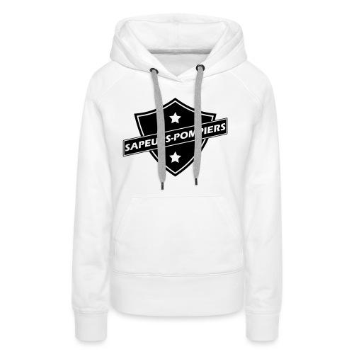 blason sapeurs-pompiers - Sweat-shirt à capuche Premium pour femmes
