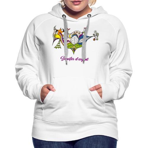 Smurfer d'argent - Sweat-shirt à capuche Premium pour femmes