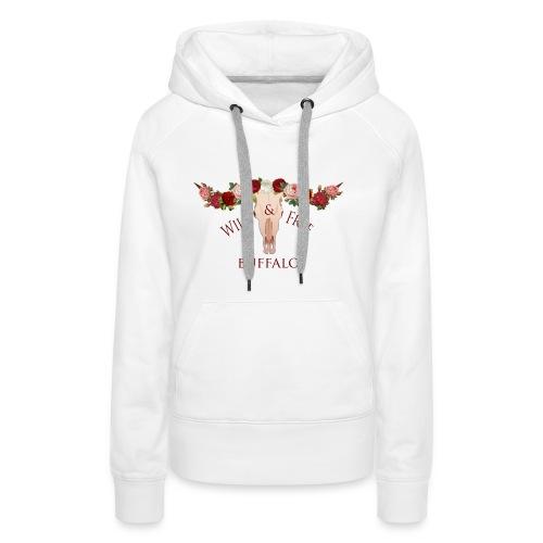 wild and free buffalo - Vrouwen Premium hoodie