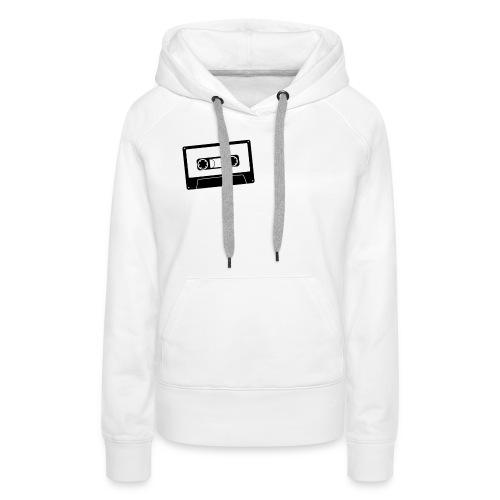 camiseta_Sound-png - Sudadera con capucha premium para mujer