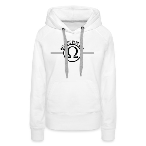Belfast Vape Bar shirt (white) - Women's Premium Hoodie