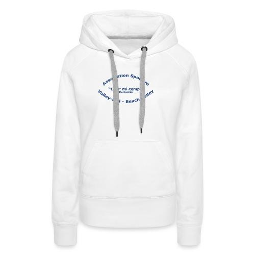 as3mt Dos - Sweat-shirt à capuche Premium pour femmes