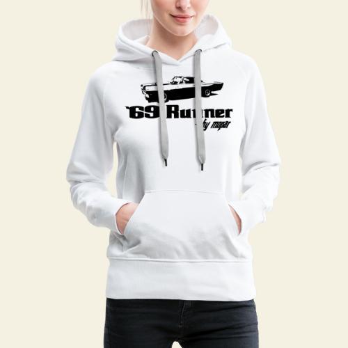 roadrunner 69 - Dame Premium hættetrøje