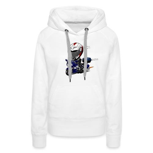 FJR OceanBlue helm en kofferset - Vrouwen Premium hoodie