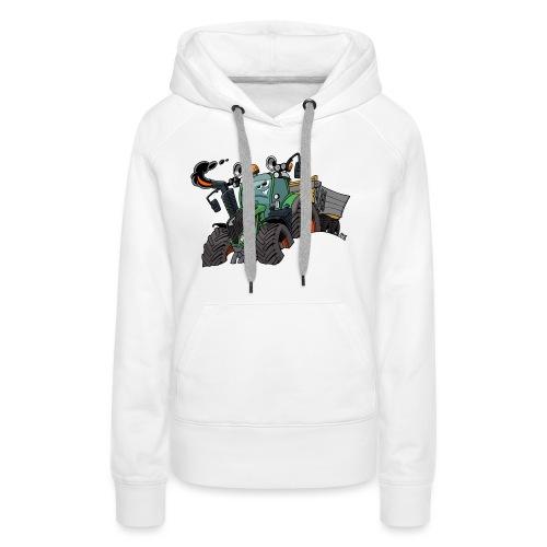 F 718Vario met kar - Vrouwen Premium hoodie