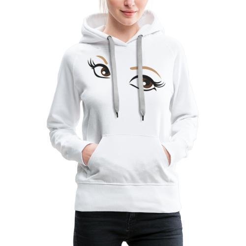 oczy - Bluza damska Premium z kapturem