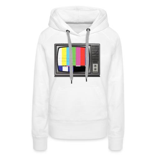 tv signal - Sweat-shirt à capuche Premium pour femmes