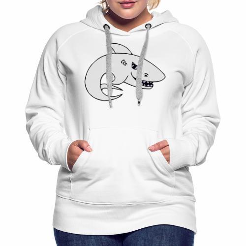 Requin - Sweat-shirt à capuche Premium pour femmes