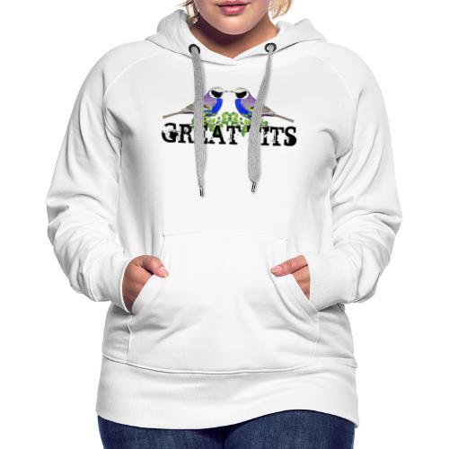 Great tits - Dame Premium hættetrøje
