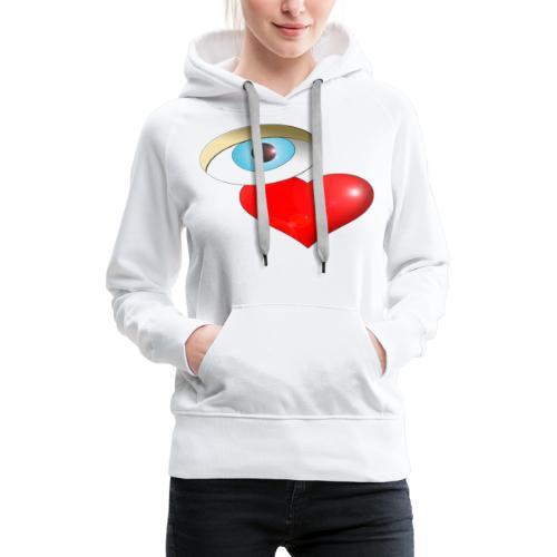 OVAL - Sweat-shirt à capuche Premium pour femmes