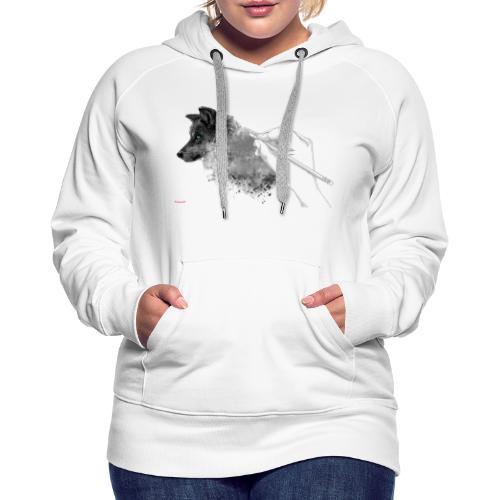 Weisse Wolfs Kolektion. ( Teaser ) - Frauen Premium Hoodie