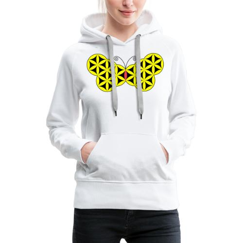 The Butterfly Of Life - Sacred Animals. - Women's Premium Hoodie