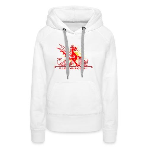 crumiere dragon redgold - Sweat-shirt à capuche Premium pour femmes