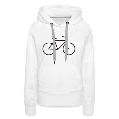 Bicycle black - Polkupyörä musta - Naisten premium-huppari