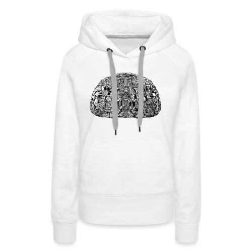 Zoomorphe P TEM - Sweat-shirt à capuche Premium pour femmes