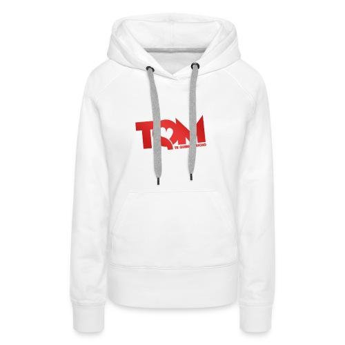 TQM- cappellino - Felpa con cappuccio premium da donna