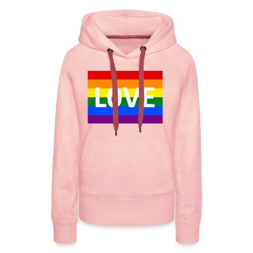 LOVE SHIRT - Dame Premium hættetrøje