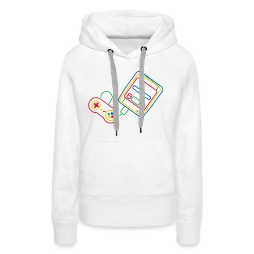 Super NES - Couleur - Sweat-shirt à capuche Premium pour femmes