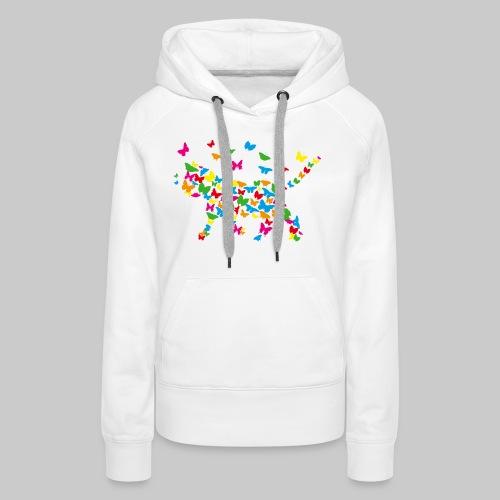 chat-papillon - Sweat-shirt à capuche Premium pour femmes