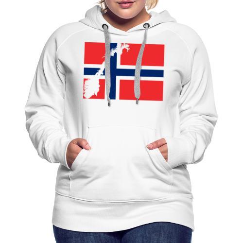 Norges Flagg - Frauen Premium Hoodie