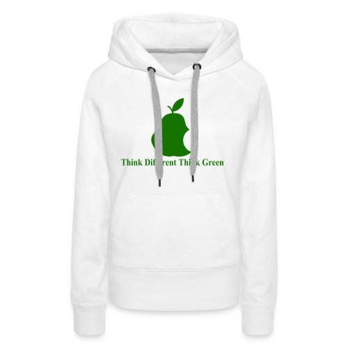 Think different, think green II - Sweat-shirt à capuche Premium pour femmes