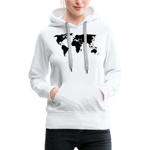 World Outline - Women's Premium Hoodie