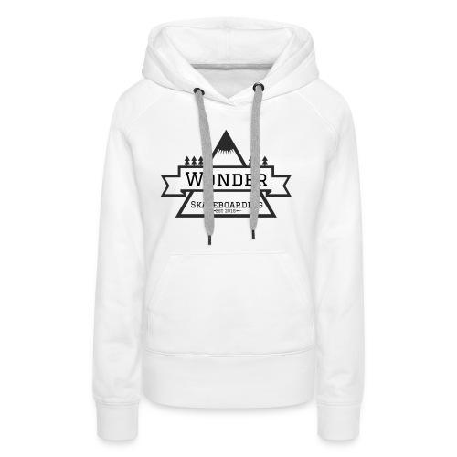 Wonder T-shirt: mountain logo - Dame Premium hættetrøje