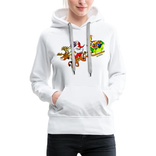 Santa's Gift Delivery with a Slingshot - Women's Premium Hoodie