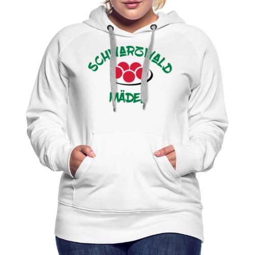 Schwarzwald-Mädel-Crest Typ 2 3f - Frauen Premium Hoodie