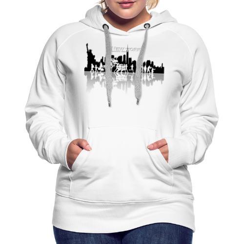 New York silhouette - Sweat-shirt à capuche Premium pour femmes