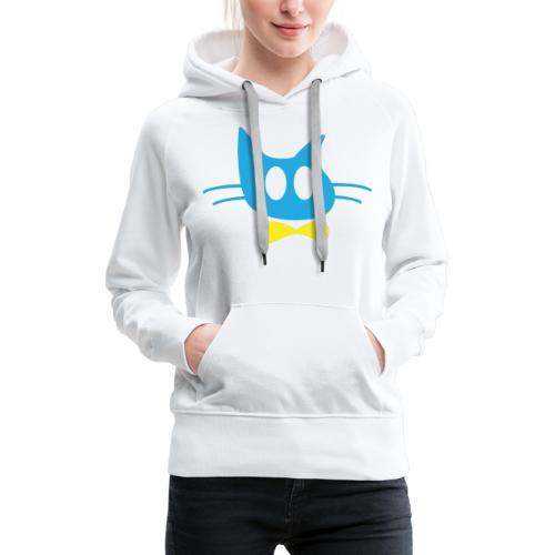 Frisse Kater Mascotte - Vrouwen Premium hoodie