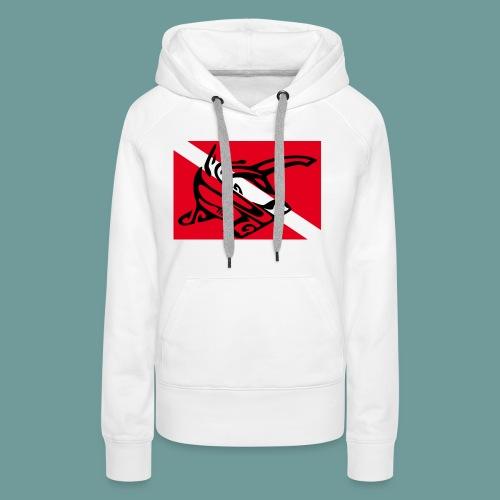 flag_ham_shark - Sweat-shirt à capuche Premium pour femmes