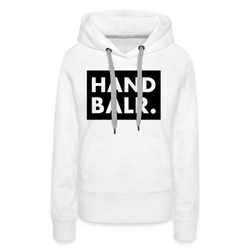 Handbalr Wit - Vrouwen Premium hoodie