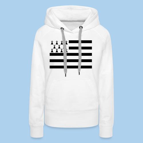 drapeau breton - Sweat-shirt à capuche Premium pour femmes