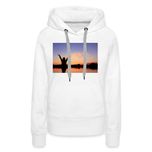 Praise, Vrijheid, Zonsondergang Pruduct - Vrouwen Premium hoodie