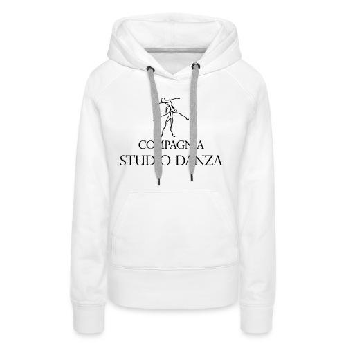 Studio Danza - Felpa con cappuccio premium da donna