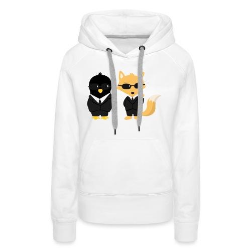 Geeks in black - Sweat-shirt à capuche Premium pour femmes