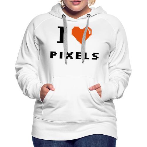 Iheart PIXELS - Women's Premium Hoodie