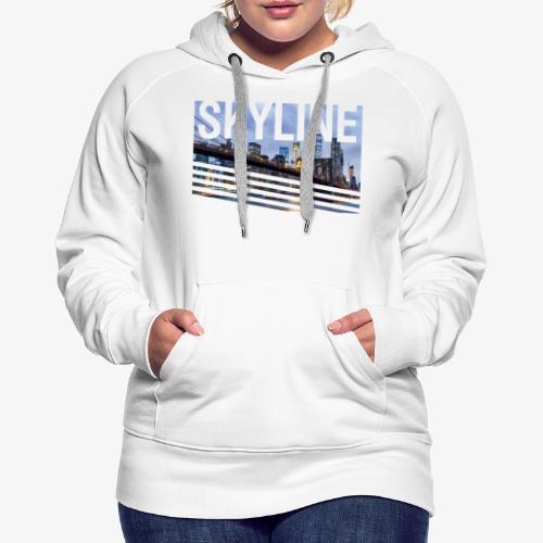 skyline - Sudadera con capucha premium para mujer