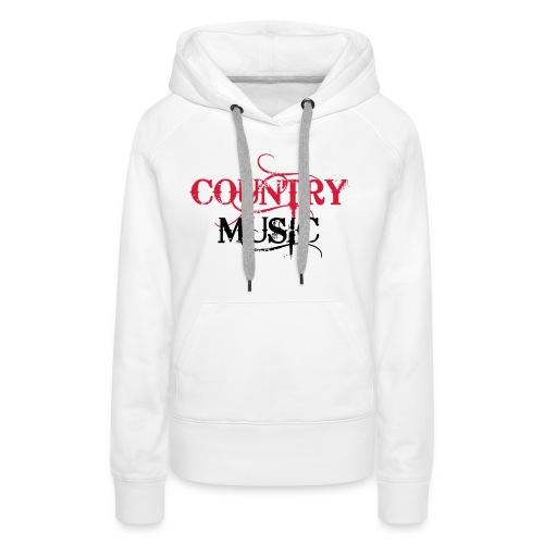Country Music - Sweat-shirt à capuche Premium pour femmes