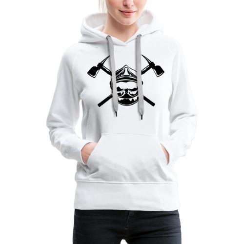 casque_pompier_2 haches - Sweat-shirt à capuche Premium pour femmes